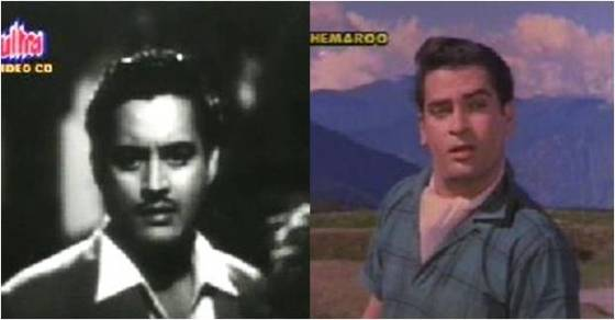 Guru Dutt and Shammi Kapoor as Pritam
