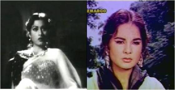 Madhubala and Kalpana as Anita and Neena respectively