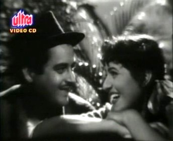 Guru Dutt and Madhubala in Mr and Mrs 55