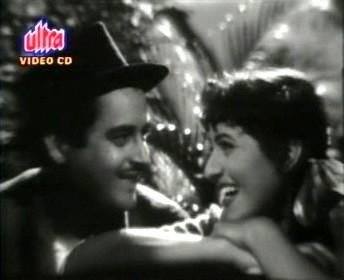 Guru Dutt and Madhubala in Mr and Mrs 55