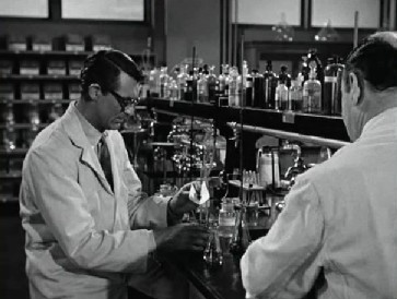 Barnaby at the lab
