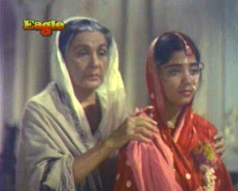 Rupa and her grandmother at Rai Saheb's deathbed