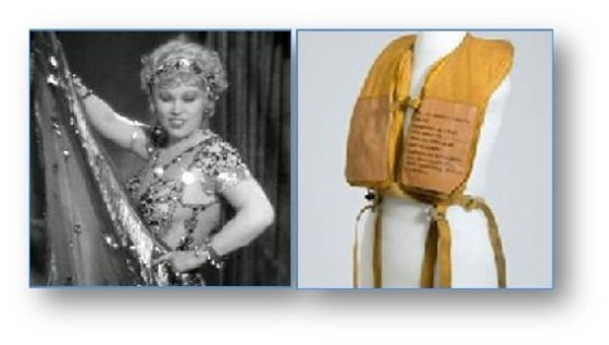 Mae West and life preserver