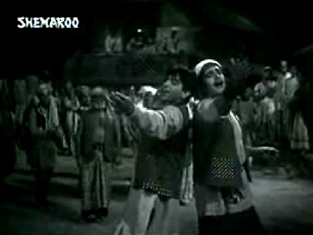 Dilip Kumar and Ajit in Naya Daur