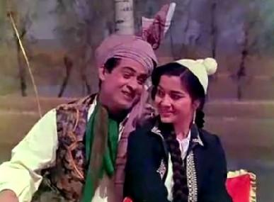 Joy Mukherji and Asha Parekh in Phir Wohi Dil Laya Hoon