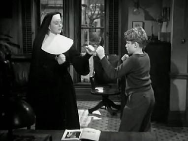 Sister Benedict teaches Eddie boxing