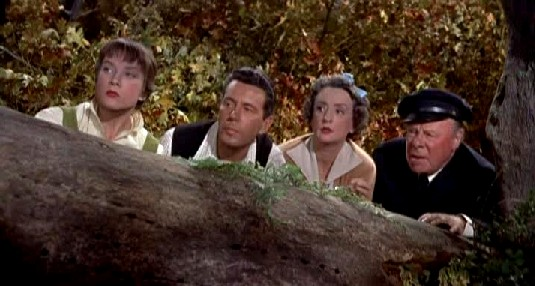 Shirley MacLaine, John Forsythe, Mildred Natwick and Edmund Gwenn in The Trouble with Harry