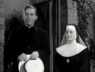 Father O'Malley and Sister Mary Benedict run up against each other