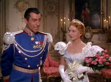 Stewart Granger and Deborah Kerr in The Prisoner of Zenda