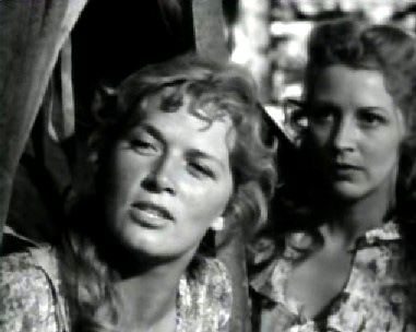 Denise Darcel as Fifi Danon and Julie Bishop as Laurie Smith
