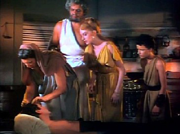 Miriam and her household attend to the wounded Marcus
