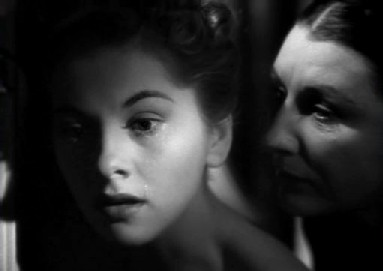 Joan Fontaine and Judith Anderson in Rebecca
