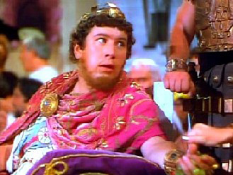 Peter Ustinov as Nero in Quo Vadis