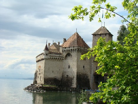 Chateau Chillon seen from the lakeside