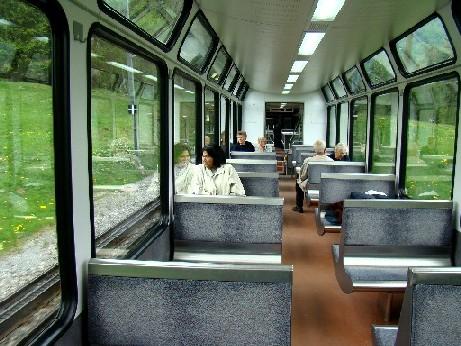 On the train to Kleine Scheidegg and Jungfraujoch