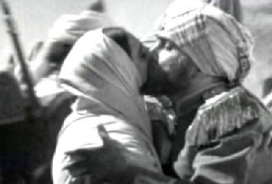 The Subedar-Major kisses his wife