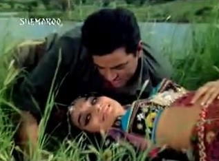 Dharmendra and Asha Parekh in Mera Gaon Mera Desh