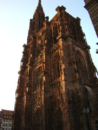 Notre Dame at sunset, Strasbourg