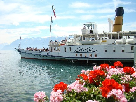 A Boat on Lac Leman