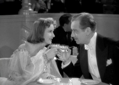Leon and Ninotchka dine together