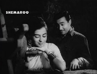 Dev Anand and Kalpana Kartik in Nau Do Gyarah