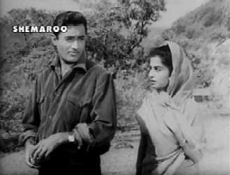 Dev Anand and Kalpana Kartik in Nau Do Gyarah