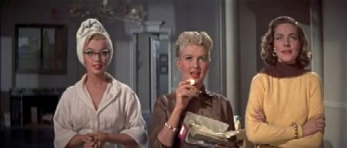 Marilyn Monroe, Betty Grable and Lauren Bacall in How to Marry a Millionaire