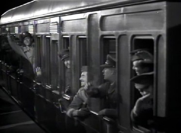 Roy's train steams out of the station