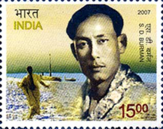 Sachin Dev Burman stamp released by the Indian Postal Department