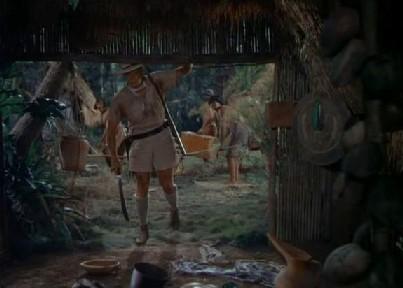 Christopher enters a deserted hut