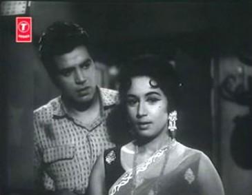 Dharmendra and Nanda in Akashdeep