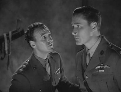 Errol Flynn and David Niven in The Dawn Patrol