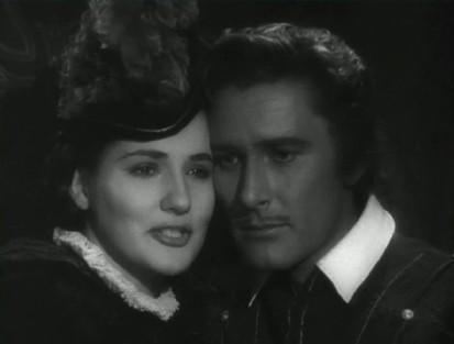 Errol Flynn and Brenda Marshall in The Seahawk
