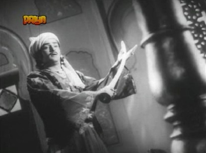 Gul Mirza displays his skill with a sword