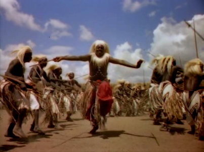African dancers in the film's finale