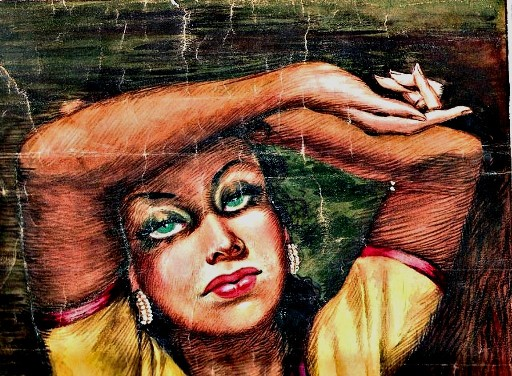 Sam Millar's love for Hollywood manifests itself in a painting of Austrian-born Hedy Lamarr
