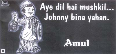 Amul - Johnny Walker ad