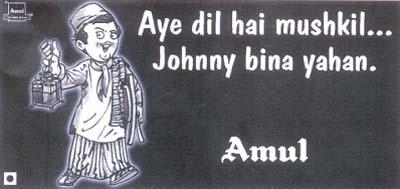 Amul - Johnny Walker ad