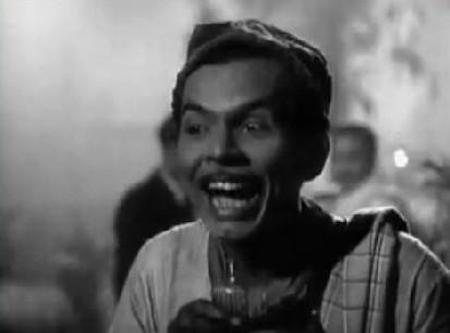 Johnny Walker as Abdul Sattar in Pyaasa