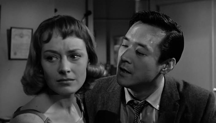 Victoria Shaw and James Shigeta in The Crimson Kimono