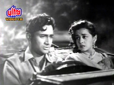 Nalini Jaywant with Dev Anand in Munimji