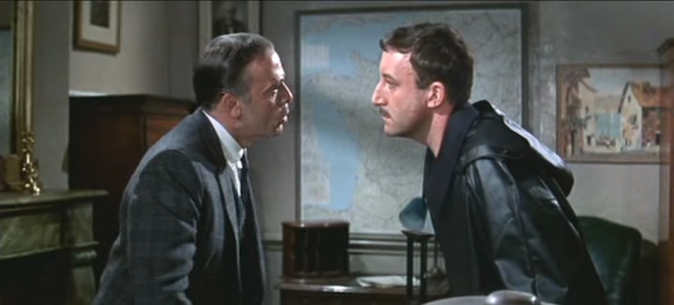 Clouseau and his boss, Commissioner Dreyfus
