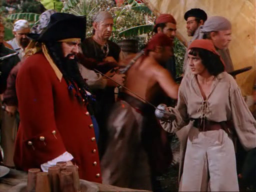 A fight erupts between Anne and Blackbeard