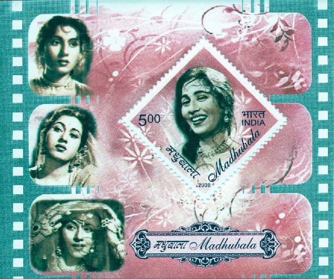 The Madhubala stamp, released 2008, re-released 2011