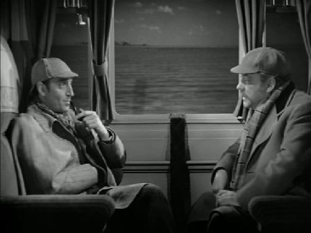 Basil Rathbone and Nigel Bruce in The Hound of the Baskervilles