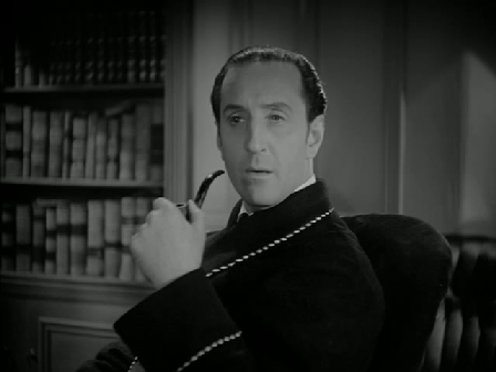 Basil Rathbone as Sherlock Holmes in The Hound of the Baskervilles