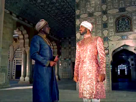 another... this is against the backdrop of a sheesh mahal