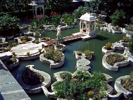 - and a shot of a garden in a palace