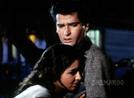 Shammi Kapoor and Kalpana in Professor