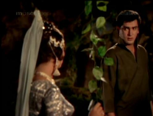 Shammi Kapoor in Rajkumar, with Sadhana